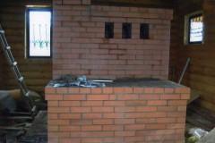 Теплушка (Русская Печь) с подтопком и плитой  в шестке и нижней лежанкой